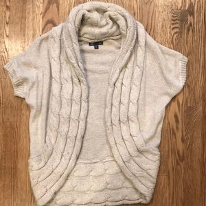 Gap open front short sleeve cardigan sweater